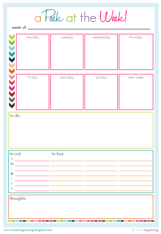 Time management happyhomehabits for Home plan weekly
